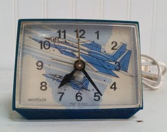 Alarm Clock Vintage Westclocx Fighter Jets