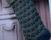 EVERGREEN STOCKING - Crochet Christmas Holiday Pattern