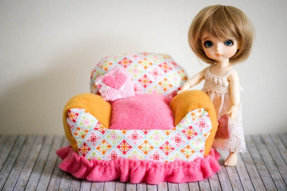 Handmade Comfy Doll Chair Furniture