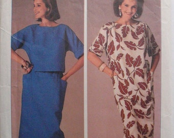 Easy To Sew Pullover Dress or Cropped Top and Straight Skirt - Simplicity 6944 - Sizes 6-8-10, Bust 30 1/2 - 32 1/2