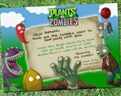 Plants VS Zombies party invitation *Digital Download*