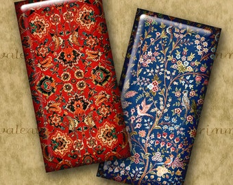1x2 inch Digital Printable Domino ORIENTAL CARPET collage sheet for Pendants Magnets Crafts...Antique Oriental Rug Patterns