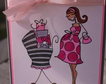 Pregnancy Congrats Card, Maternity Congrats, Expectant Mom Card, Baby Shower Card