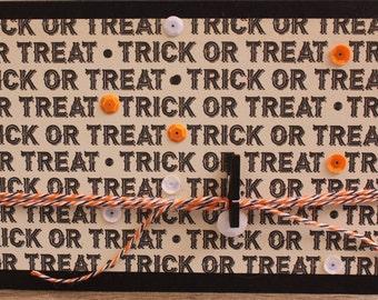 Halloween Card, Trick or Treat Card, October Notecard, Halloween Themed Notecard, Trick or Treat Notecard