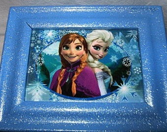 Disney's Frozen Anna and Elsa Upcycled Jewelry & Trinket Box