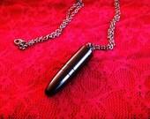 Secret Compartment Black Bullet Necklace