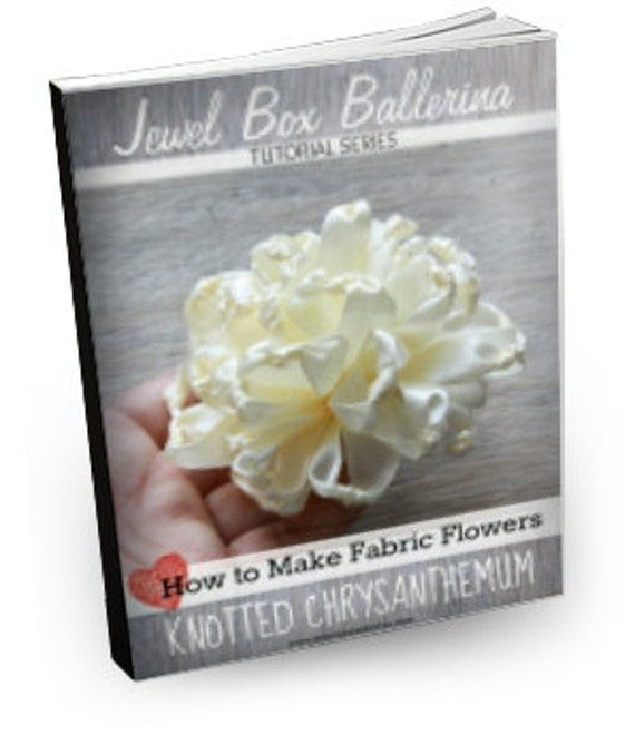 PDF Digital Pattern: Digital Pattern, Ribbon Flower Pattern, FabricFlower Tutorial