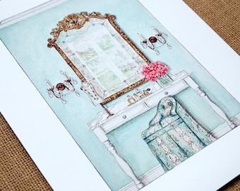 Vanity Rendering Limited Edition Fine Art Print 8X10