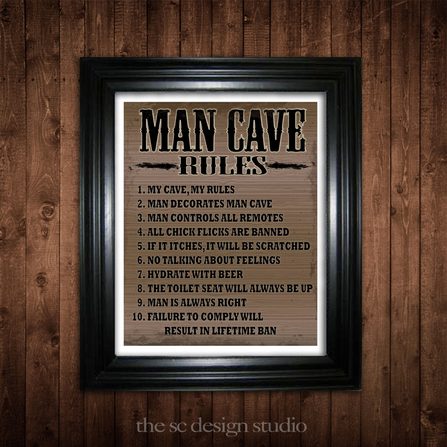 Man Cave Gifts For Dad : Man cave rules gift for him gifts dad fathers day