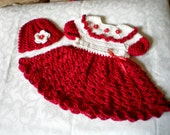 Berry Red Party Dress for 12 to 18 Months
