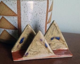 Mountain Range Business Card Holder, Ceramic Business Card Holder, The mountains are calling and I must go, Desert Mountains