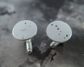Mismatched Silver constellation Cuff links: Sterling silver cuff links showing the constellations of your choice.