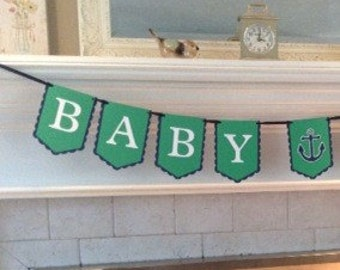 Baby boy, nautical banner, ready to ship, its a boy