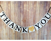 thank you banner, gold wedding thank you banner, custom gold wedding banners, wedding sign, black and gold banner