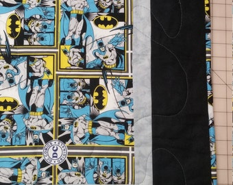 handmade cotton lap quilt dc batman - free shipping