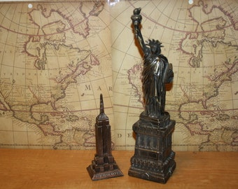 New York Souvenirs - set of two - Statue of Liberty - Empire State Building - item #1719
