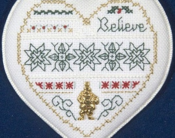 Believe - Blackwork Technique - Level Three - Beyond Cross Stitch Series - A Victoria Sampler - Kit BCS #3-4