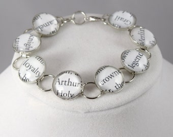 King Arthur and Merlin Bracelet, Knights of the Round Table Jewelry