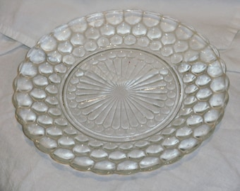 Vintage Bubble Glass Plate