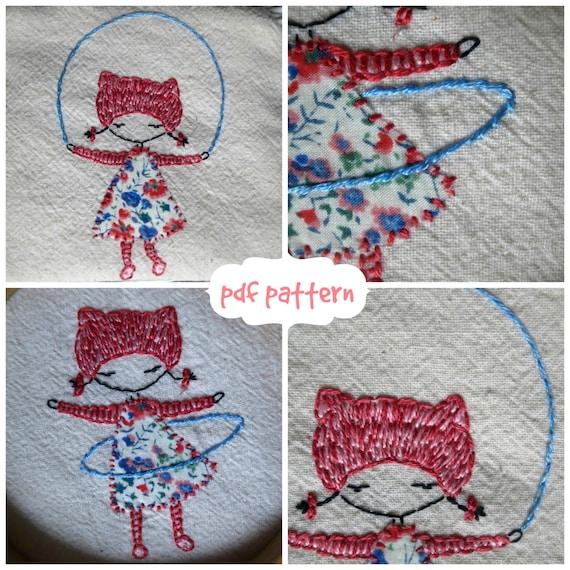 hula and skip embroidery pattern pdf