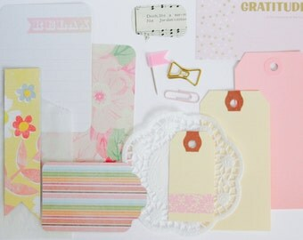 Listers Kit . Pink Planner Page Decoration . Project Life Scrapbooking Listers Gotta List Field Notes Midori A6 Planner Girl . Ephemera