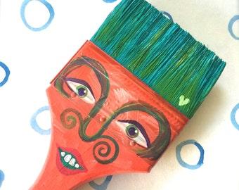 Paintbrush People Magnet Orange