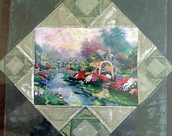"Kit - Lamplight Bridge Embellished Cross Stitch & Amish Square Quilt Pattern – 27"" x 27"" – Candamar Designs No. 46006"