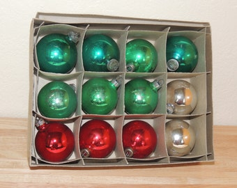Vtg Paragon's Brilliant Colors Ornaments in the Original Box