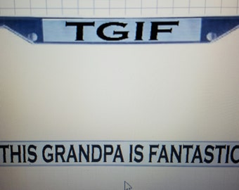 Personalized License Plate Frames....with your wording  PERFECT GIFT!
