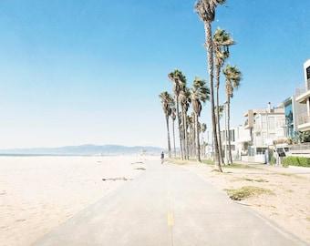 "Venice Beach, California Wall Art, Beach Decor, Coastal, Seaside, Palm Trees, Beach Boardwalk, Venice Beach Wall Art,  ""venice Boardwalk"""