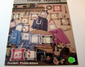 Country Hopscotch cross stitch pattern booklet by Dale Burdette -1984