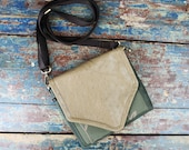 NEW Leather Travel Bag Cross Body Shoulder Bag for Camera Accessories Messenger Tan Ostrich
