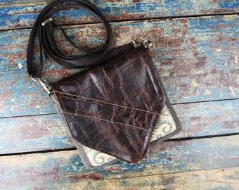 NEW Leather Travel Bag Cross Body Shoulder Bag for Camera Accessories Messenger Aztec