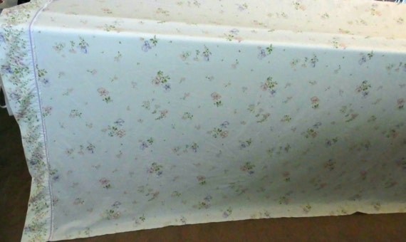 Vintage King Sized Flat All Cotton Sheet Made In Usa