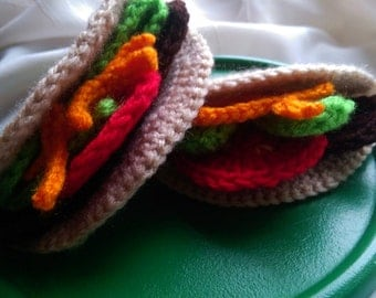 Crochet Tacos Pretend Food