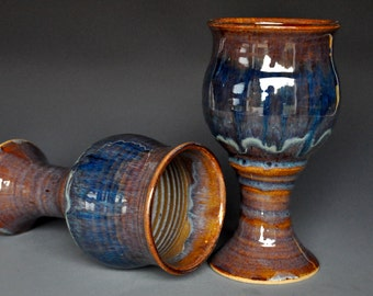 Stoneware Goblet Pottery Chalice Ceramic Cup
