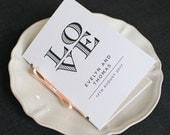 LOVE Wedding Program / 'Wedding Ceremony' Pocket-sized Order of Service Mass Booklet / Modern Minimalist Typography Program / ONE SAMPLE