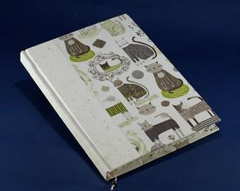 Cats handmade paper notebook