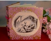 LAST ONE Fairy Tale Lavender and Gold Small Journal with Vintage Blondine Page Illustration Cover