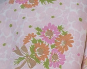 "VINTAGE SHEET Fabric 69x70"" Quilt Backing 1970s"