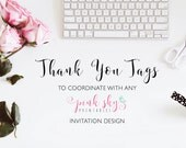 Thank You Favor Tags coordinating with any Pink Sky Printables design