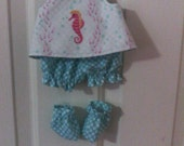 """Baby Alive  And Waldorf Doll Clothes Pinafore Set 10"""" 12"""" Or 15"""""""