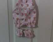 "Baby Alive  And Waldorf Doll Clothes Adorable Romper and Booties 10"" 12"" Or 15"""