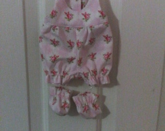 """Baby Alive  And Waldorf Doll Clothes Adorable Romper and Booties 10"""" 12"""" Or 15"""""""