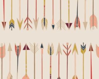 DESTASH SALE Fletching Chant- Wild & Free Collection by Maureen Cracknell - Art Gallery Fabrics premium quilting cotton fabric