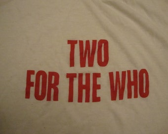 Vintage Two for THE WHO 70's Concert Tour Soft Thin T Shirt S