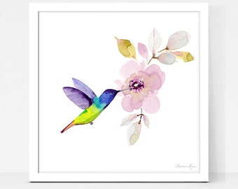 Art Print Hummingbird