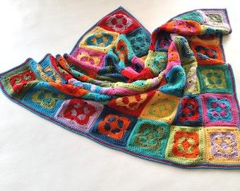 US Terms Groovin' Crochet Blanket  PDF Crochet Pattern
