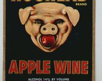 1950s Vintage Wine Labels Hog Head 3 Bears