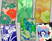1 X 2 Inch Printable Digital Domino Graphics Pendant Images Japanese Silk Painting Scraps Vintage Asian Art TWO Sheets CS 453